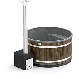 Kylpytynnyri Kirami Comfort Family L Cube 6-8 hlöä 2200 l CoalBlack/StoneGray