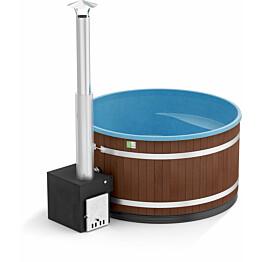 Kylpytynnyri Kirami Comfort Family L Cube 6-8 hlöä 2200 l Mocca/OceanBlue