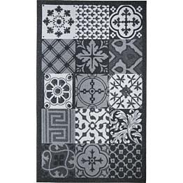 Kynnysmatto Mosaic Hestia 45x75cm musta