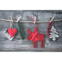Kynnysmatto Village's Joulu 50x80 cm harmaa/punainen