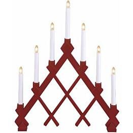 Kynttelikkö Star Trading Rut 7-osainen 53 cm punainen