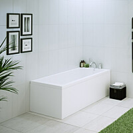 L-paneeli kylpyammeeseen Nordhem Saltholmen Nordurit 1575x700 mm valkoinen