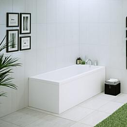 L-paneeli kylpyammeeseen Nordhem Saltholmen Nordurit 1600x800 mm valkoinen
