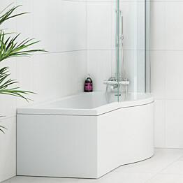 Etulevy kylpyammeeseen Nordhem Solvik Standard 1500 mm valkoinen