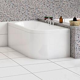 L-paneeli kylpyammeeseen Nordhem Torekov Standard 1700x800 mm valkoinen