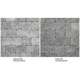 Pihakivi Benders Labyrint/Troja Antik Puolikivi 105x140x50 mm harmaa sekoitus