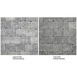 Pihakivi Benders Labyrint/Troja Antik Mikro 140x140x50 mm harmaa sekoitus