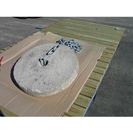 Laiturin betonikiekko Luoman Rentukka 40 kg