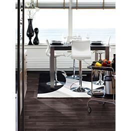 Laminaatti Domestic Extra Classic Plank Ruskea Tammi 3-sauva ruokailutilassa