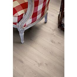 Laminaatti Living Expression Long Plank 4V Modern Harmaa Tammi lauta yksityiskohta
