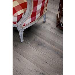 Laminaatti Living Expression Long Plank 4V Harmaa Uusiotammi lauta yksityiskohta