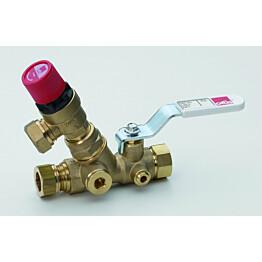 Lämminvesikehittimen syöttöventtiili Oras 414015 DN15/Cu15