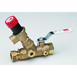 Lämminvesikehittimen syöttöventtiili Oras 414028 DN25/Cu28
