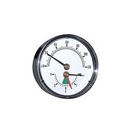 Lämpö/painemittari vaaka R 1/2 120ºC 0-4 bar