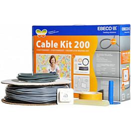 Lämpökaapelipaketti Ebeco Cable Kit 200 18,5m 200W