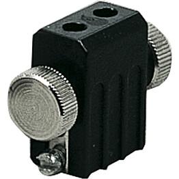 Lamppukannatin GX5.3 12V 50W musta vaijerijärjestelmään