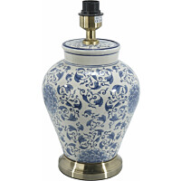Lampunjalka PR Home Fang Hong 380 x 225 mm valkoinen/sininen
