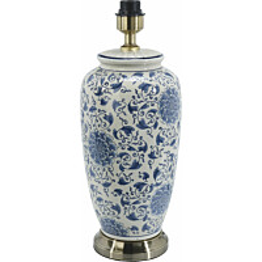 Lampunjalka PR Home Li Jing 490 x 220 mm valkoinen/sininen