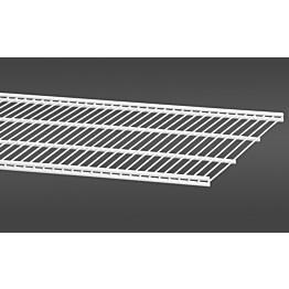 Valkoinen, 121,2 cm leveä lankahylly 40 on säilytysjärjestelmän suosittu ja monikäyttöinen perusosa