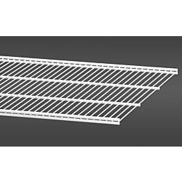 Valkoinen, 60,7 cm leveä lankahylly 50 on säilytysjärjestelmän suosittu ja monikäyttöinen perusosa