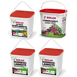 Lannoitepaketti puutarhanhoitoon Biolan