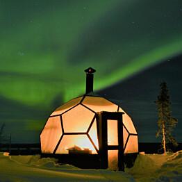 Lasi-iglu Arctic Globe Inari 9 m²