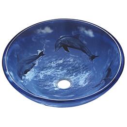 Lasiallas Tammiholma Delfiinit 420x140mm sininen