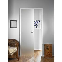 Lasiliukuovi seinän sisään Stella Pocket Door M8 hidastimella 825x2040mm