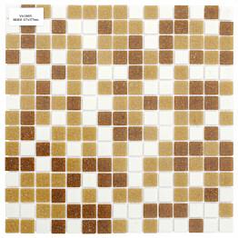 Lasimosaiikki Gils Mix 32,7 x 32,7 seinä-/lattialaatta beige