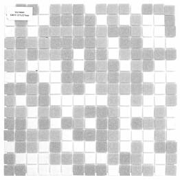 Lasimosaiikki Gils Mix 32,7 x 32,7 seinä-/lattialaatta harmaa