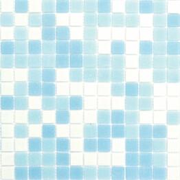 Lasimosaiikki Gils Mix 32,7 x 32,7 seinä-/lattialaatta vaaleansininen
