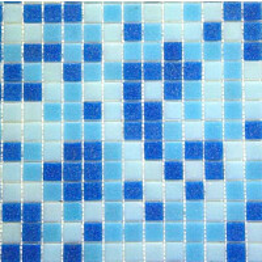Lasimosaiikki Mix 32,7x32,7 seinä-/lattialaatta sininen