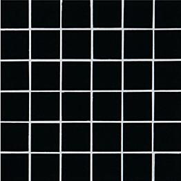 Lasimosaiikki Qualitystone Crystal Black verkolla 48 x 48 mm