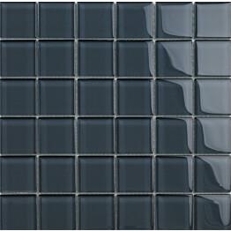 Lasimosaiikki Qualitystone Crystal Gray verkolla 48 x 48 mm