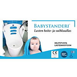 Lasten hoito- ja suihkuallas Babystanderi Ø54.6x119 cm valkoinen