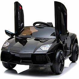 Lasten sähköauto Lyfco 12V, musta, 2x25W