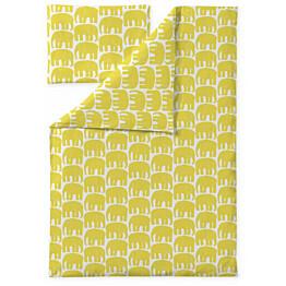 Lasten pussilakanasetti Finlayson Elefantti 120x160 cm keltainen