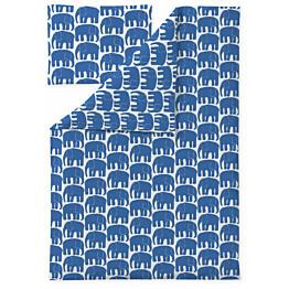 Lasten pussilakanasetti Finlayson Elefantti 120x160 sininen