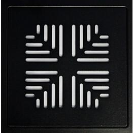 Lattiakaivon kansi Raksa Design Tähkä 197x197x4 RST musta