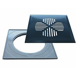 Lattiakaivonkansi PP-Tuote Apila RST/graniitin harmaa vakioasennuskehyksellä 197 x 197 mm