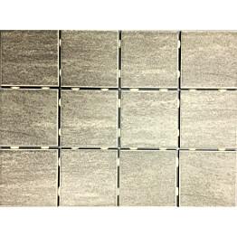 Lattialaatta Bien Alpstone Grey himmeä verkolla 100x100 mm