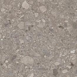 Lattialaatta Pukkila Ceppostone Dark Greige sileä 597x597 mm