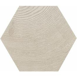 Lattialaatta Pukkila Hexawood Grey himmeä struktuuri 200x175 mm