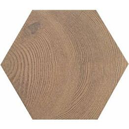 Lattialaatta Pukkila Hexawood Old himmeä struktuuri 200x175 mm