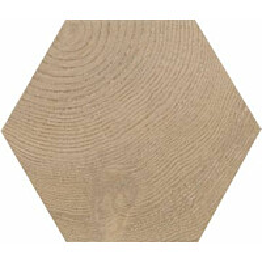 Lattialaatta Pukkila Hexawood Tan himmeä struktuuri 200x175 mm