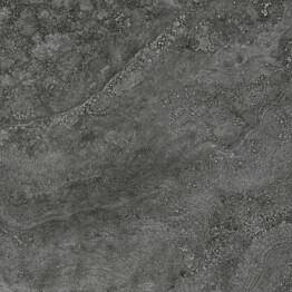 Lattialaatta Pukkila Italian Icon Cross Cut Black himmeä karhea 598x598 mm