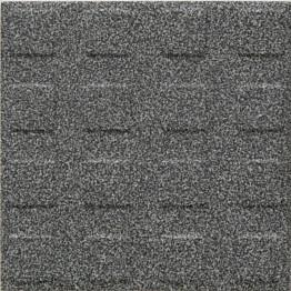 Lattialaatta Pukkila Natura Speckled Black-White himmeä struktuuri neliönasta 96x96 mm
