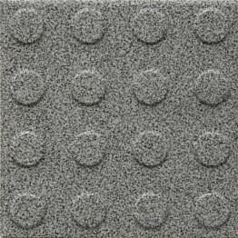 Lattialaatta Pukkila Natura Speckled Grey himmeä struktuuri pyörönasta 96x96 mm