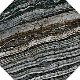 Lattialaatta Pukkila Rock Symphony Glam Musta 8-kulmainen kiiltävä sileä 594x594 mm
