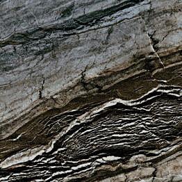 Lattialaatta Pukkila Rock Symphony Glam Musta kiiltävä sileä 147x147 mm